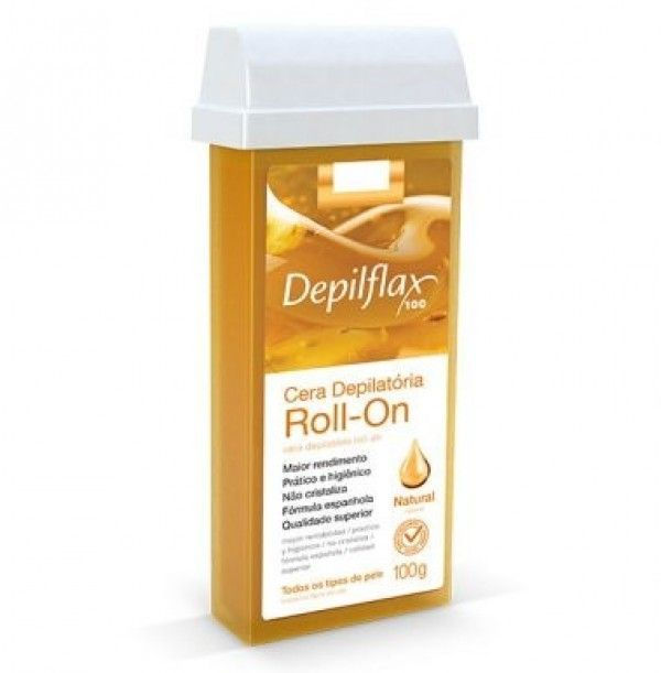 Depilflax Cera Depilatória Roll-on 100g - Natural