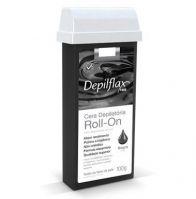 Depilflax Cera Depilatória Roll-on 100g - Negra