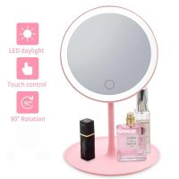 Espelho de Mesa com LED Rosa