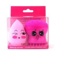Kit Esponja de Limpeza Facial e Esponja para Base