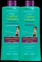 KeraBrasil - Kit Shampoo 300ml + Condicionador 300ml (Cachos Definidos)
