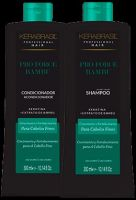 KeraBrasil - Kit Shampoo 300ml + Condicionador 300ml (Pró Force Bambu)