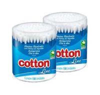 Pote Hastes Flexíveis Cotton Line 150 Unidades