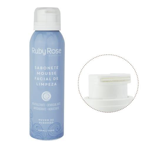 Ruby Rose Sabonete Mousse Facial de Limpeza Nuvem de Algoodão 150ml HB-320